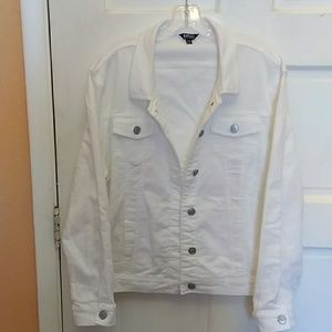Buffalo jean jacket size XXL white